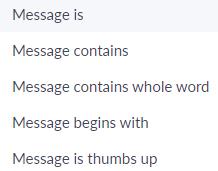 ตัวอย่างเงื่อนไขของการตั้ง Keywords Reply ของ Chatbot