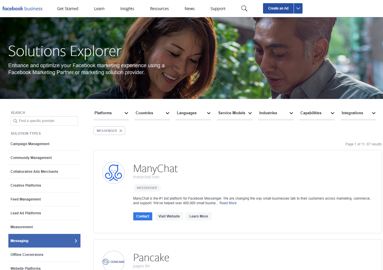 manychat partner facebook