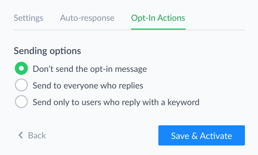 Opt-in Actions Don't Send Message Manychat
