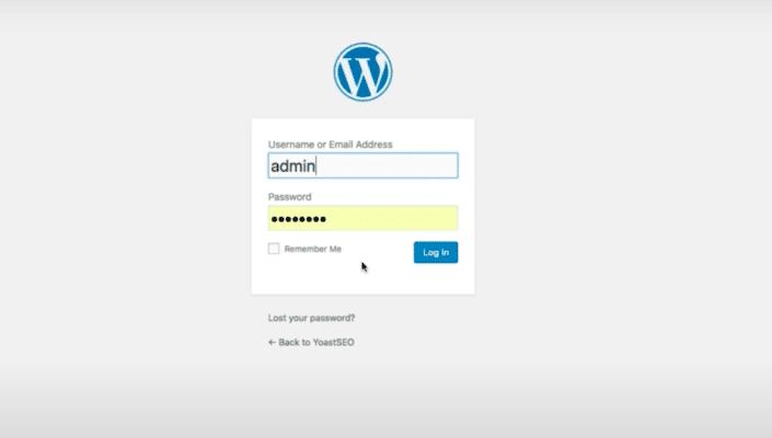 Log-in WordPress