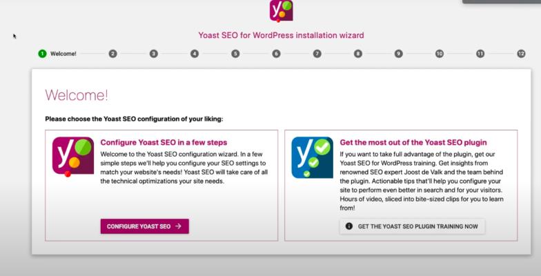 Yoast seo for wordpress installation