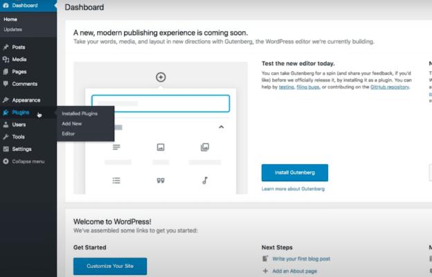 Plugins wordpress tab