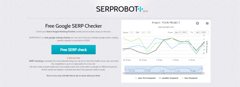 serprobot SERP checker